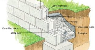 """how to lay besser block retaining wall""的图片搜索结果"