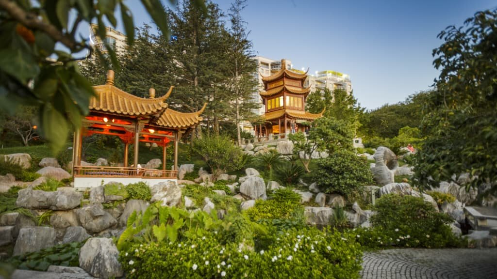 坐落於雪梨市中心的中式園林誼園。雪梨晨鋒報