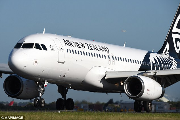 An Air New Zealand flight from Auckland to Sydney was cancelled after a teenager allegedly made a threatening comment (stock image)