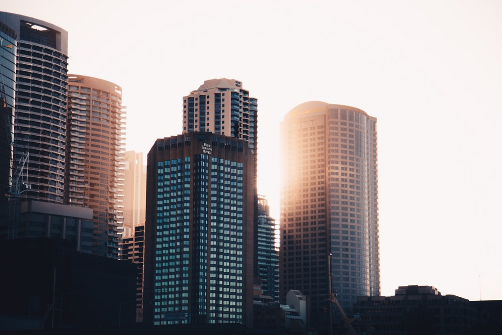 selective focus photography of high-rise building