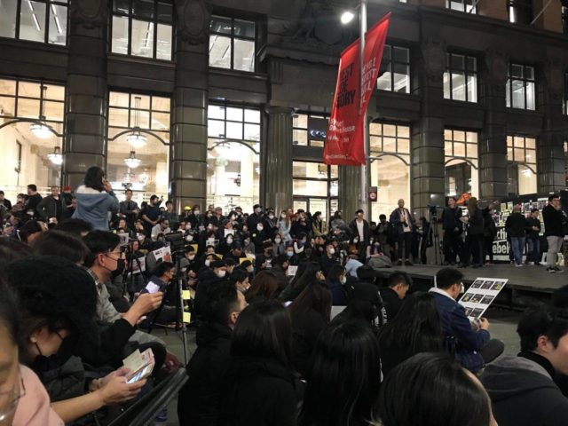 澳洲集会声援香港反送中 大陆愤青冲撞警察被带走(组图、视频)