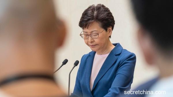 香港特首林郑月娥表明逃犯条例草案已寿终正寝。(图片来源-周秀文-看中国摄影)
