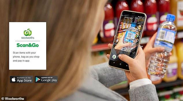 任何通过手机应用程序Scan&Go购物的顾客,都将享受75折优惠。(图片来源:Woolworths)