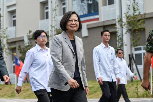 """台湾总统蔡英文针对北京连续夺台2邦交国的事件表示 对于""""一国两制""""台湾只有三个字""""不可能""""(图片来源:SAM YEH/AFP/Getty Images)"""