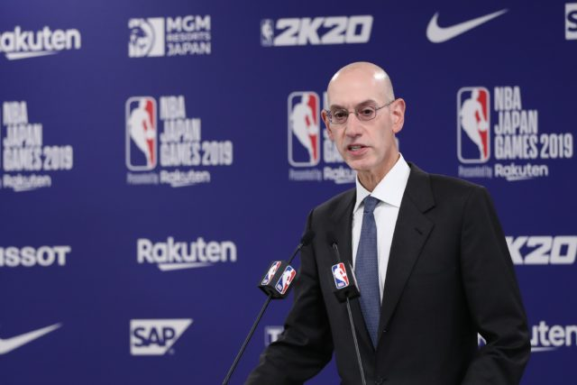 NBA总裁Adam Silver(图片来源:Takashi Aoyama/Getty Images)