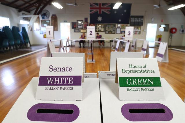 资深自由党议员承认,联邦大选海报有意误导选民。  (图片来源:Chris Hyde/Getty Images)