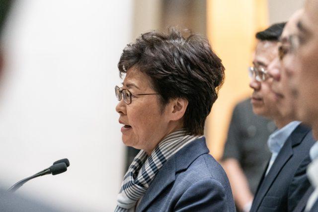 香港行政长官林郑月娥周三晚召集多名局长级官员到礼宾府召开紧急会议