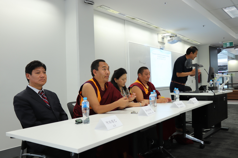 4位西藏流亡政府議員。 (攝影/張格格)