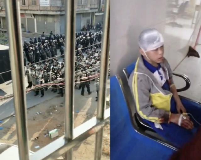 广东民众连日反对当地兴建火葬场,却遭警方镇压。(图片来源:微博)