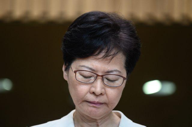 香港特首林鄭月娥。(PHILIP FONG/AFP/Getty Images)