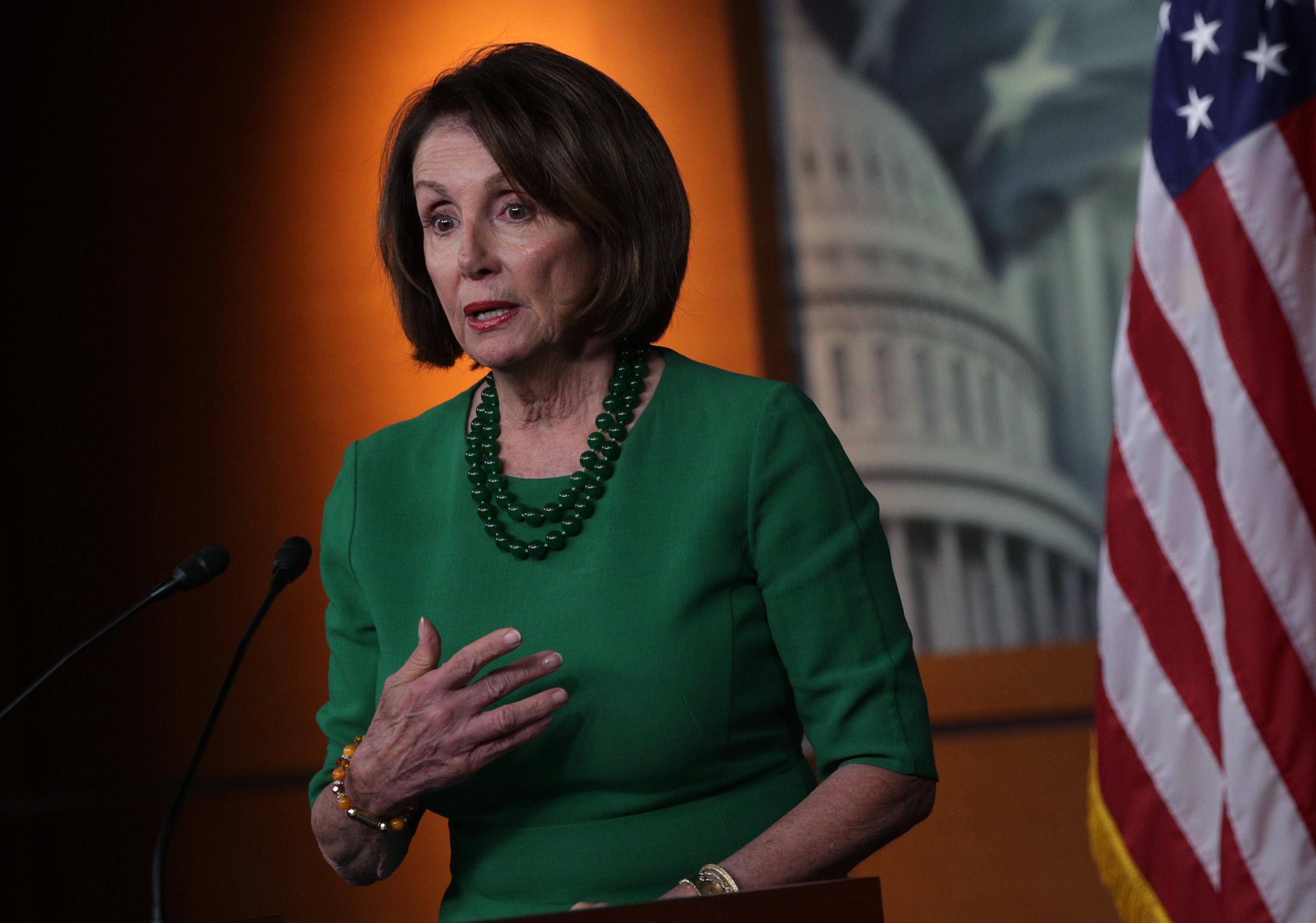 美国众议院议长Nancy Pelosi (图片来源: Alex Wong/Getty Images)