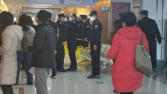 北京朝陽醫院事發現場(圖片來源:網路)