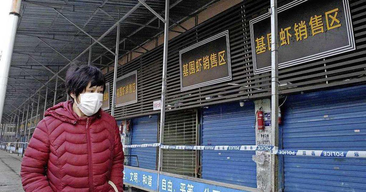爆发疫情的湖北武汉海鲜市场已经关闭。
