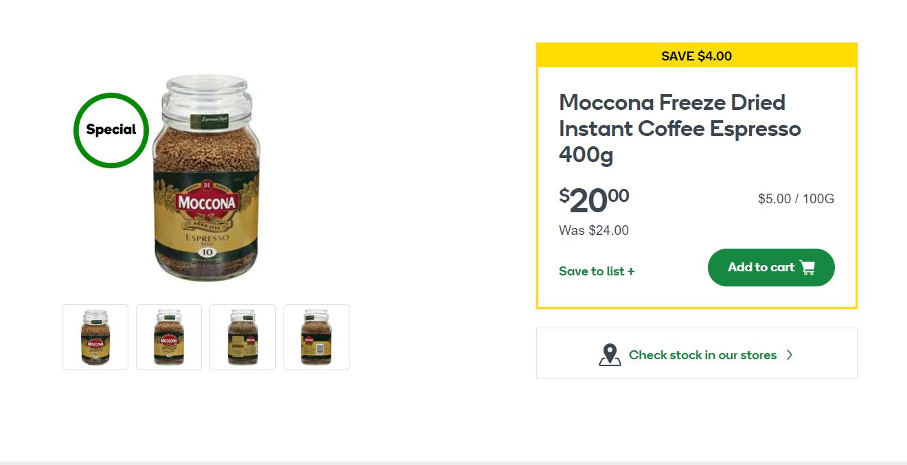 Moccona速溶咖啡