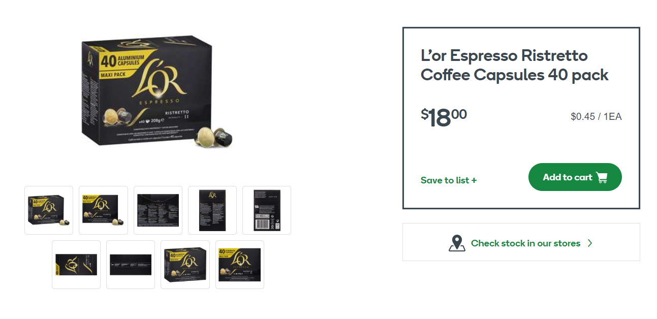 L'Or膠囊咖啡