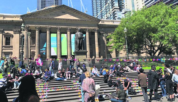 「居澳港人」在澳洲參與聲援活動