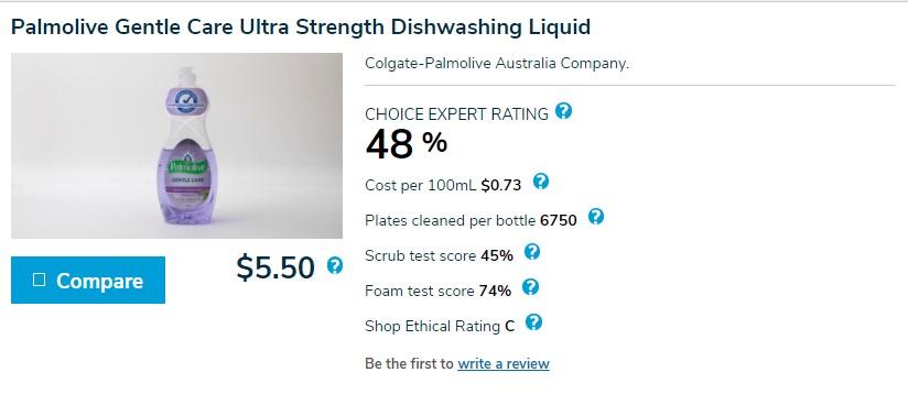 Palmolive Gentle Care Ultra Strength Dishwashing Liquid