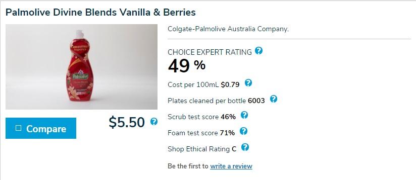 Palmolive Divine Blends Vanilla & Berries