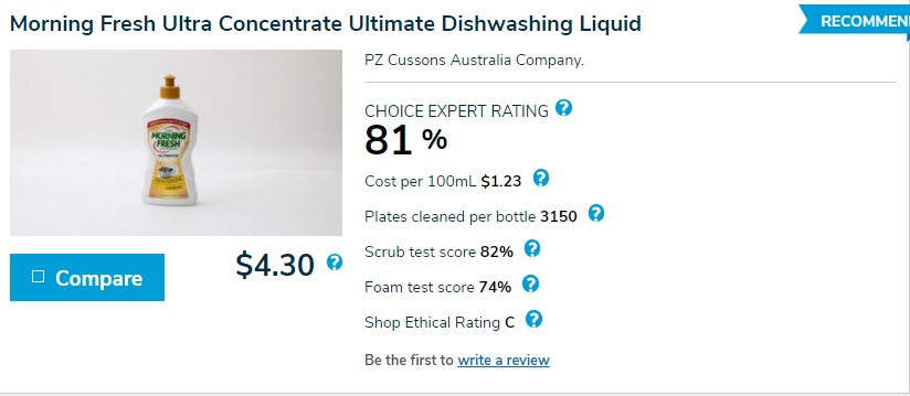 Morning Fresh Ultra Concentrate Ultimate Dishwashing Liquid
