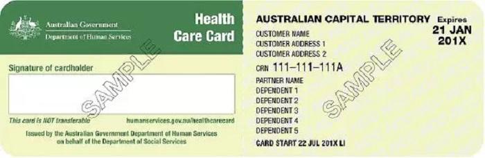 保健卡Health Care Card