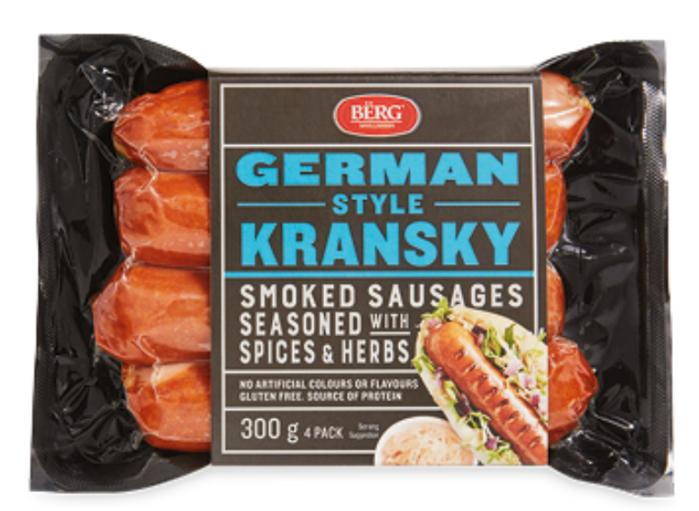 Berg德國煙熏烤腸