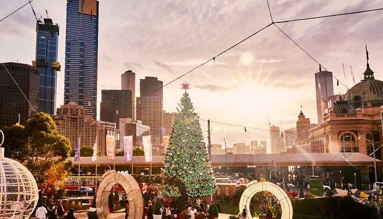墨爾本聯邦廣場聖誕樹
