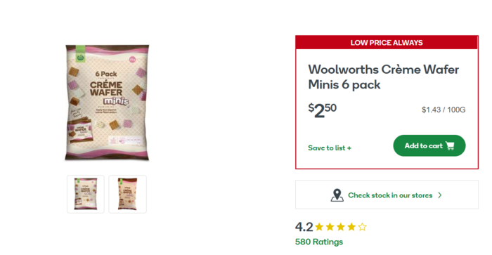 Crème Wafer Minis