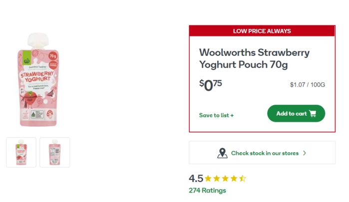 Strawberry Yoghurt Pouch