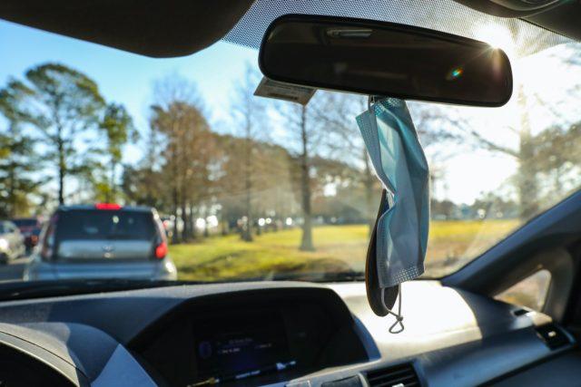 汽车后视镜,口罩