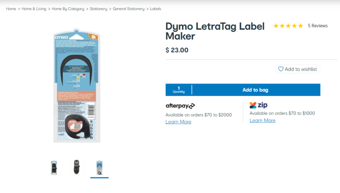 標籤印表機(Dymo LetraTag Label Maker)