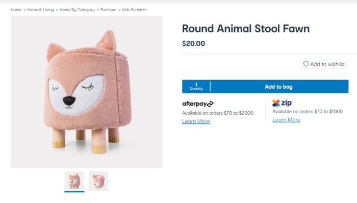 卡哇伊小凳子(Round Animal Stool)