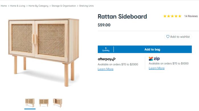 藤编收纳柜(Rattan Sideboard)