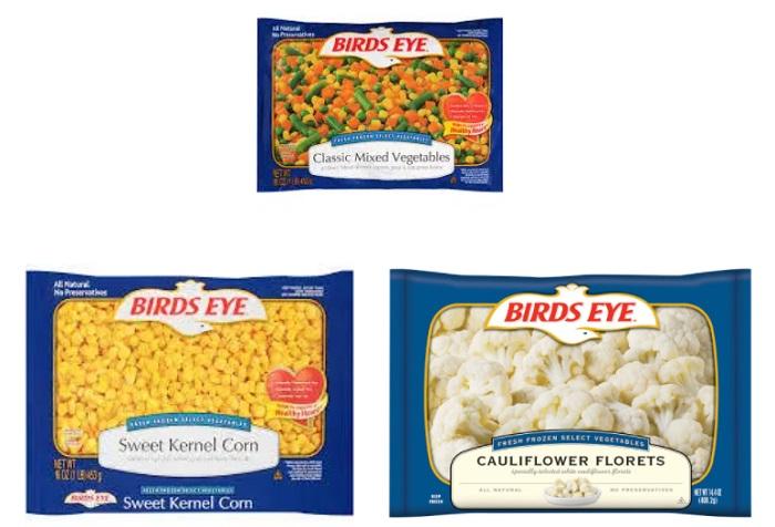 Birds Eye有賣各類冷凍蔬菜