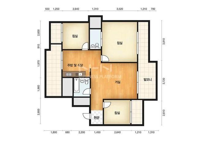 76平米的小房
