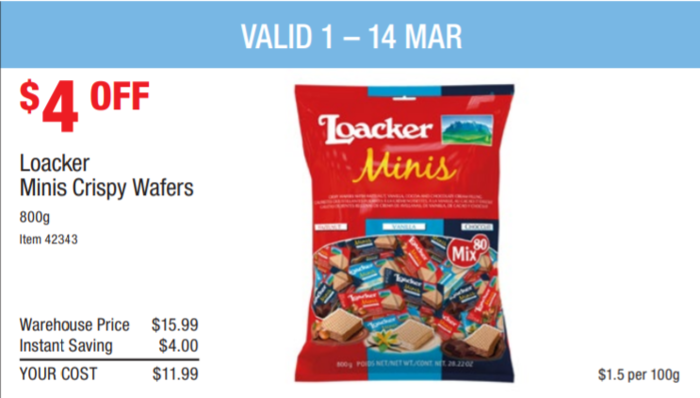 Loacker minis威化饼干