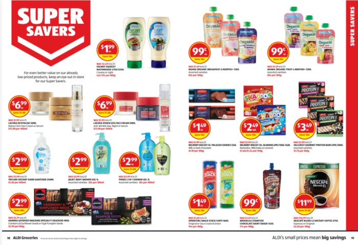 Aldi Super Savers商品