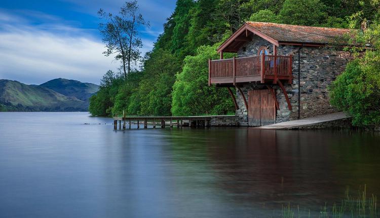 湖邊,湖水,