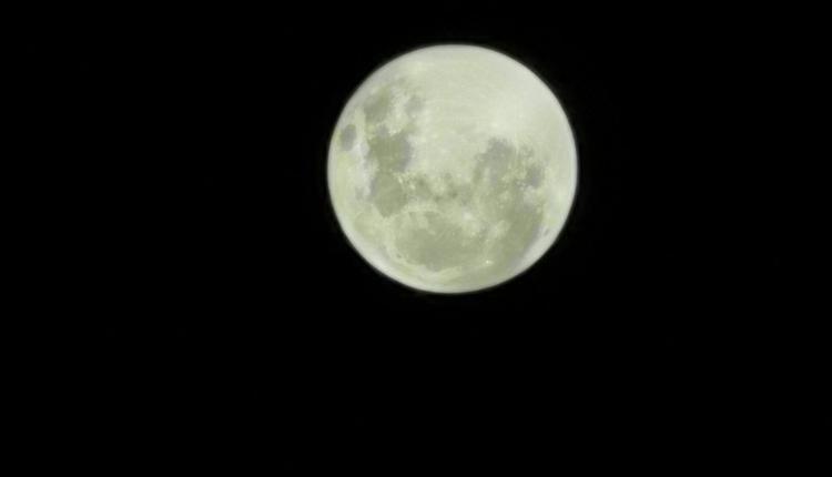 墨爾本2021年4月份的超級月亮