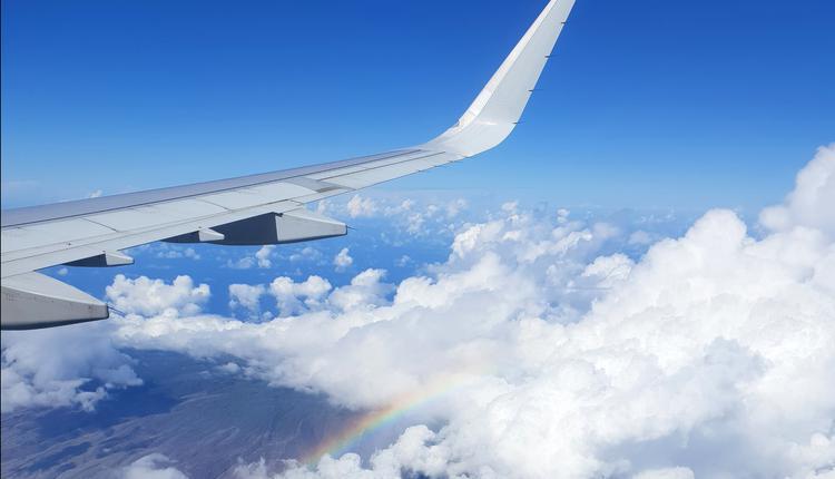 旅行泡泡,彩虹,飞机,旅游,夏威夷