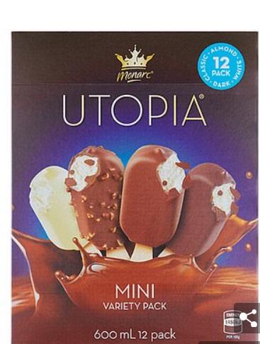 Monarc Utopia Mini Variety Pack冰淇淋