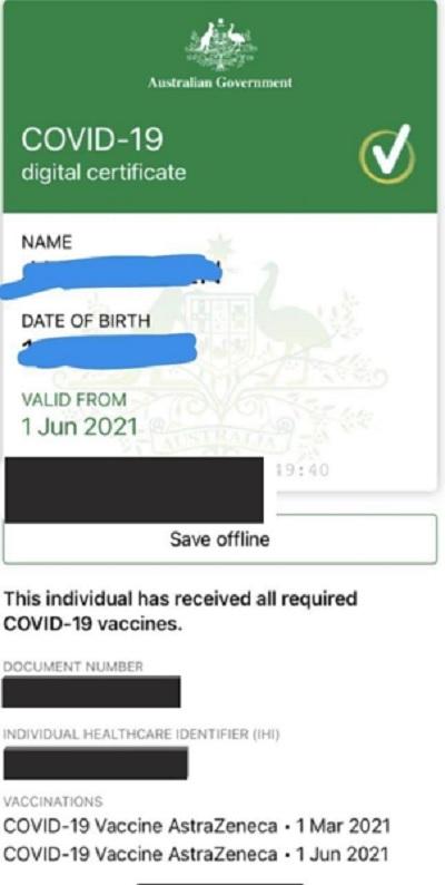 假疫苗證書